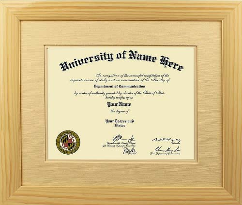 The Cardinal Custom Diploma Frames  - Traditional style frame take design cues from the 18th and 19th centuries. They incorporate rich woods and fabrics with ornate details and designs. Perfect for Doctors and Lawyers offices!