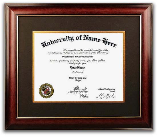 The Distinction Frame  - This traditional-style diploma frame takes design cues from the 18th and 19th centuries. These diploma frames incorporate rich woods and fabrics with ornate details and designs. Perfect for Doctors and Lawyers offices!