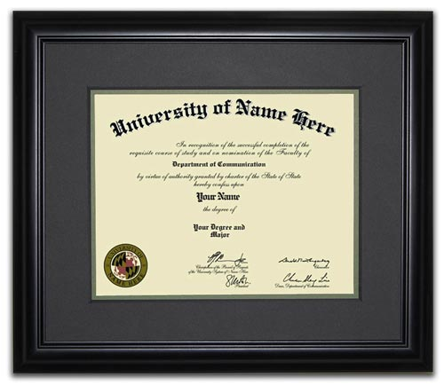 The Flair Frame  - Showcase your hard work with a contemporary diploma frame that marries beauty and elegance with the simplicity of the modern tech age.  Choose a frame that preserves and protects your proudest moments in style.