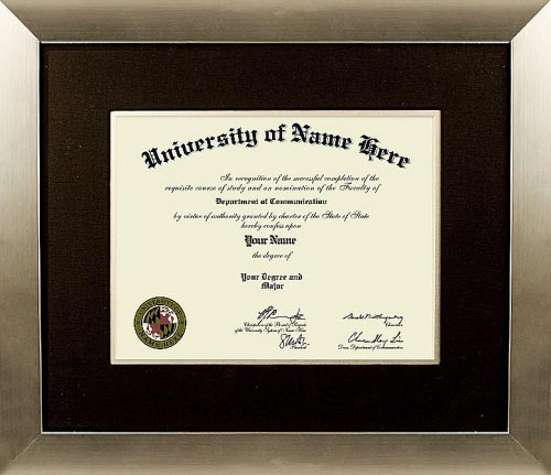 the fortune diploma frame for college our traditional style diploma frame for college takes design - Diploma Frame Size
