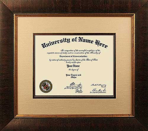 The Gold Standard Diploma Frames Online  - Traditional style diploma frames online are inspired by the 18th and 19th centuries and make the perfect choice for high school, college and professional certificates.