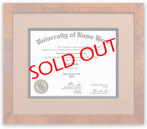 The Primo Discount Diploma Frames  - Discount diploma frames draw their inspiration from the 18th and 19th centuries. Rich woods and fabrics make our discount diploma frames look expensive and worthy of holding your important accomplishments.