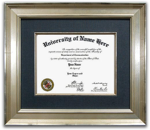 The Reserve Certificate Frame  - Our unique and traditional style certificate frame takes design cues from the 18th and 19th centuries. A certificate frame is ideal to hold high school, college and doctorate certificates.