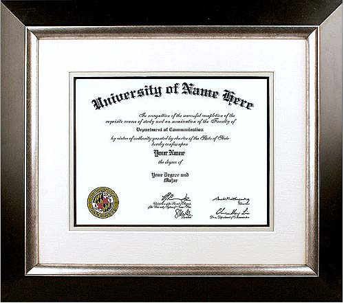 The Showpiece College Diploma Framing  - Traditional style college diploma framing takes design cues from the 18th and 19th centuries. Use our college diploma framing options for high school, college or doctorate certificates.