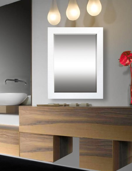 Nouveau - Contemporary style encompasses a range of styles developed in the latter half of the 20th century. Our bathroom mirrors feature softened and rounded lines as opposed to the stark lines seen in modern design. Interiors contain neutral elements and bold color, and they focus on the basics of line, shape and form.