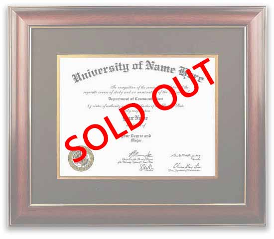 distinction diploma frame