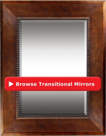 Transitional Decorative Wall Mirror Decca