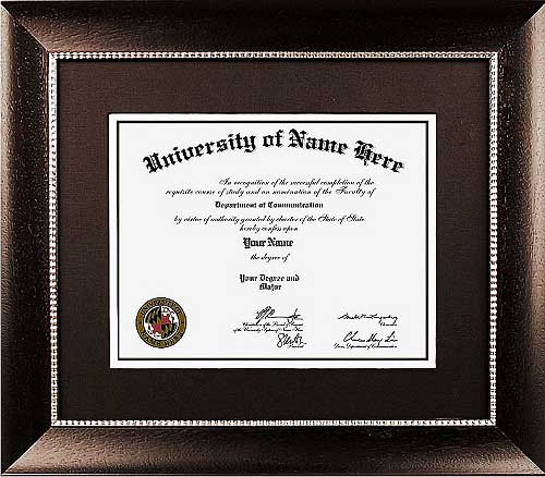 The Elite Certificate Frames  - Traditional style certificate frames take design cues from the 18th and 19th centuries. They incorporate rich woods and fabrics with ornate details and designs. Our certificate frames are perfect for Doctors and Lawyers offices!