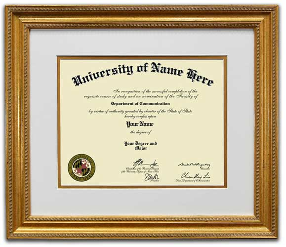 Diploma Picture Framing - The Gold Star | FrameStore Direct