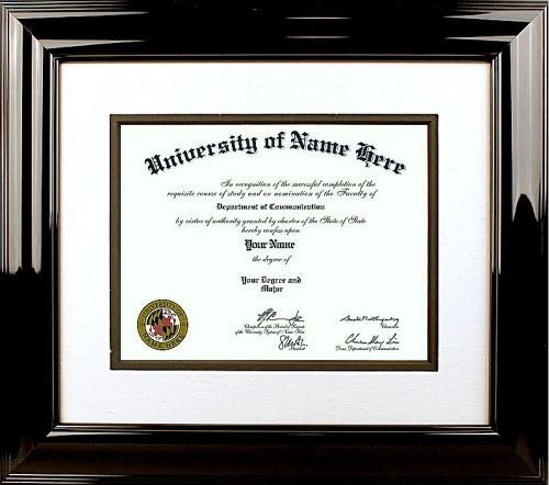 The Nonpareil Diploma Frame  - Our traditional style diploma frame takes design cues from the 18th and 19th centuries. They incorporate rich woods and fabrics with ornate details and designs. Perfect for Doctors and Lawyers offices!
