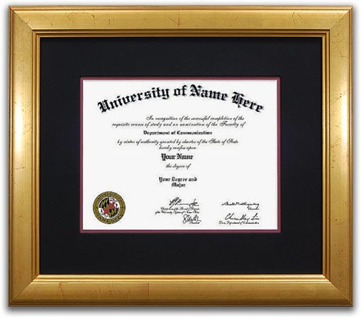 The Recognition University Diploma Frames  - Traditional style university diploma frames take design cues from the 18th and 19th centuries. They incorporate rich woods and fabrics with ornate details and designs. Perfect for Doctors and Lawyers offices!