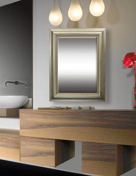 Contessa - Transitional style bathroom mirror frames feature a marriage of traditional and contemporary furniture, finishes, materials and fabrics equating to a classic, timeless design. Furniture lines are simple yet sophisticated, featuring either straight lines or rounded profiles.