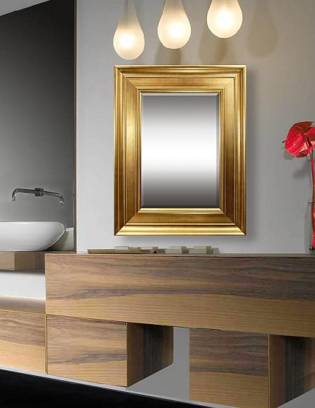 Marquee - Contemporary style encompasses a range of dining room mirrors developed in the latter half of the 20th century. Our gold mirror frame pieces feature softened and rounded lines as opposed to the stark lines seen in modern design. Interiors contain neutral elements and bold color, and they focus on the basics of line, shape and form.